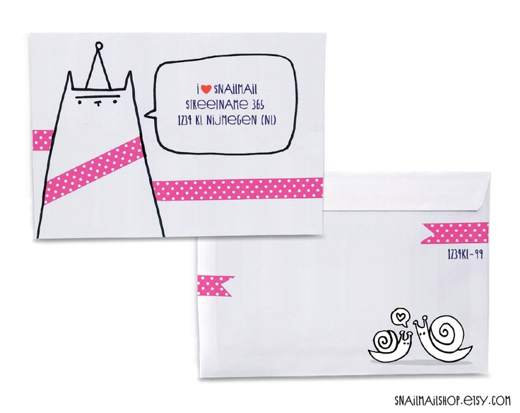 Best Letter Ideas Images On   Decorated Envelopes