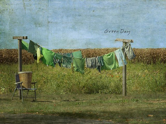 .when EVERY back yard had one...the earth was greener and we were skinnier...hanging out clothes is good for us!