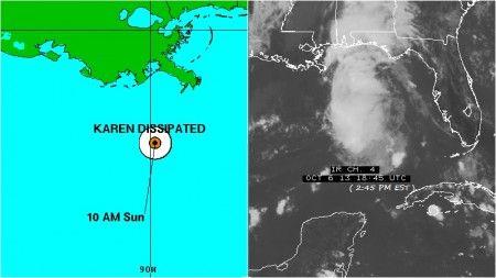 Karen no ha tenido gran aceptación en el Centro Nacional de Huracanes de la NOAA en Miami...   Definitivamente las noticias del tiempo toman otra magnitud. ¿Sera a causa del calentamiento global?