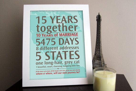 What a cool anniversary gift!: Wedding Anniversaries Gifts, Wedding Anniversary, Gifts Ideas, Anniversaries Ideas, Personalized Wedding, Cute Ideas, 10 Years, 5 Years, Anniversary Gifts