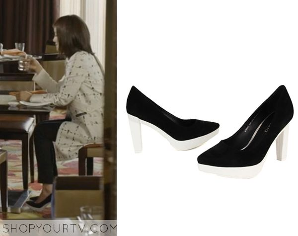 Golden Cross: Episode 10 Seo Yi Re's Black and White Heels - ShopYourTv