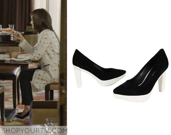 Golden Cross: Episode 10 Seo Yi Re's Black and White Heels - ShopYourTv
