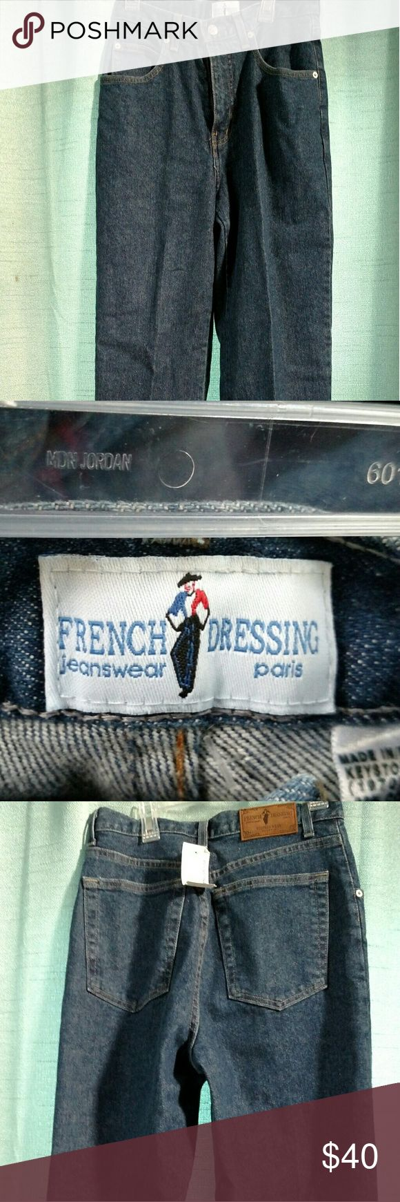 Jeans Very lightly worn . Almost like new blue jeans French Dressing Jeans Straight Leg
