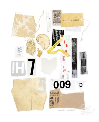 """Paper Trail II, 2013, Mixed Media on Paper, 19"""" x 24"""" by Emily Rickard"""