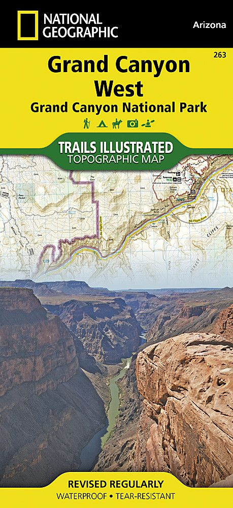 Grand Canyon, West, Map 263 by National Geographic Maps