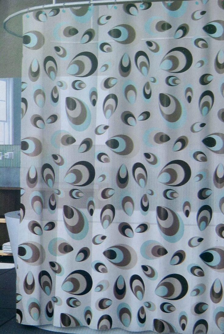 Aqua chevron shower curtain - Black And Tan Chevron Shower Curtain Verso Vinyl Shower Curtain In Shades Of Taupe Black