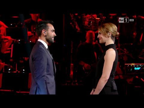 Marco Mengoni and Paola Cortellesi at #LauraePaola RAi1 April 1, 2016 Monologue…