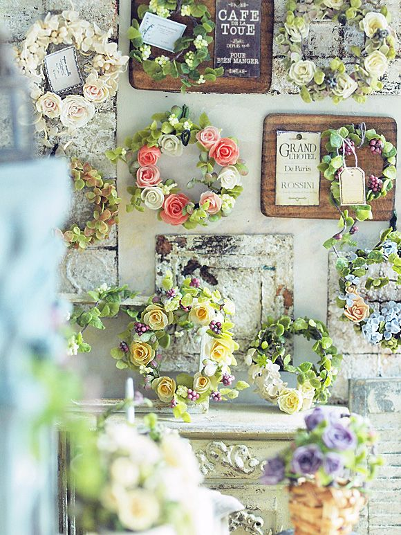 floral frames and wreaths in miniature* リースと・・・。 : natural色の生活~handmade家具