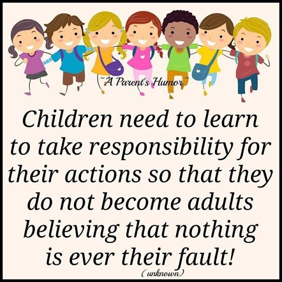 An argument that parents are responsible for their childrens action