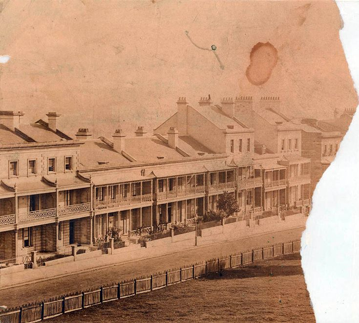 View north along Macquarie St,Sydney in 1859.