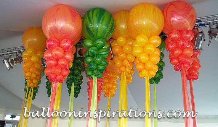 3ft ceiling decor balloms globos bombas pinterest for Balloon ceiling decoration