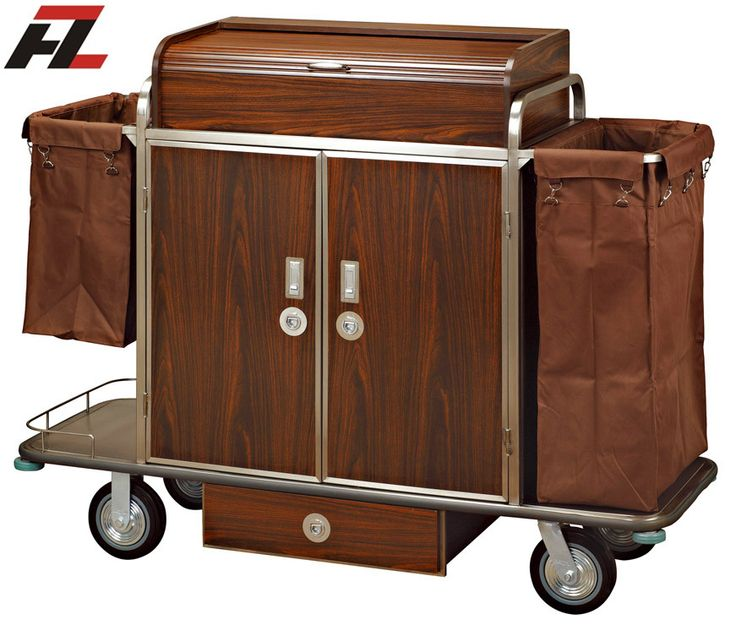 18 best images about housekeeping cleaning trolley on for Hotel room service cart