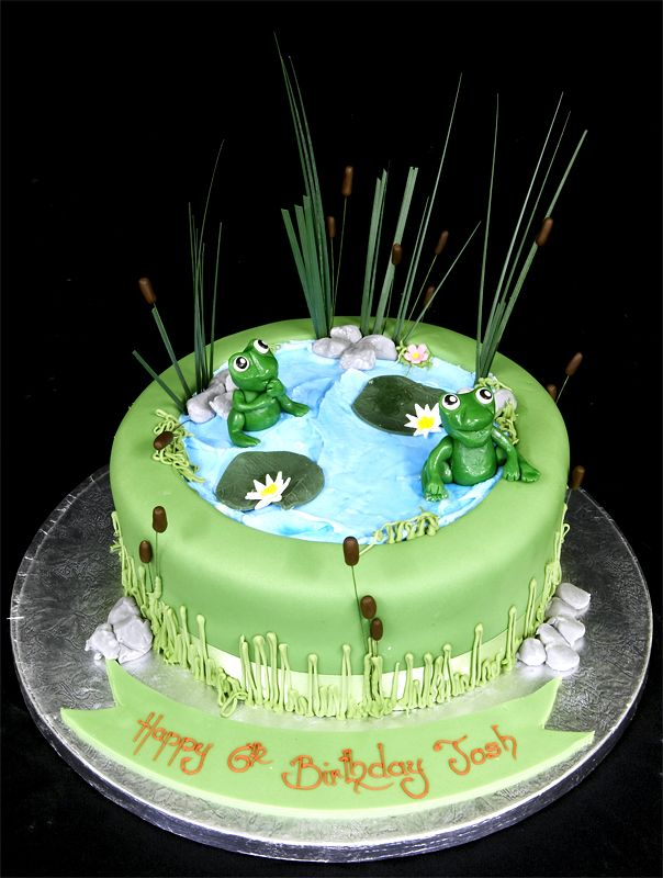 28 best images about featuring fondant on pinterest for Pond decoration ideas