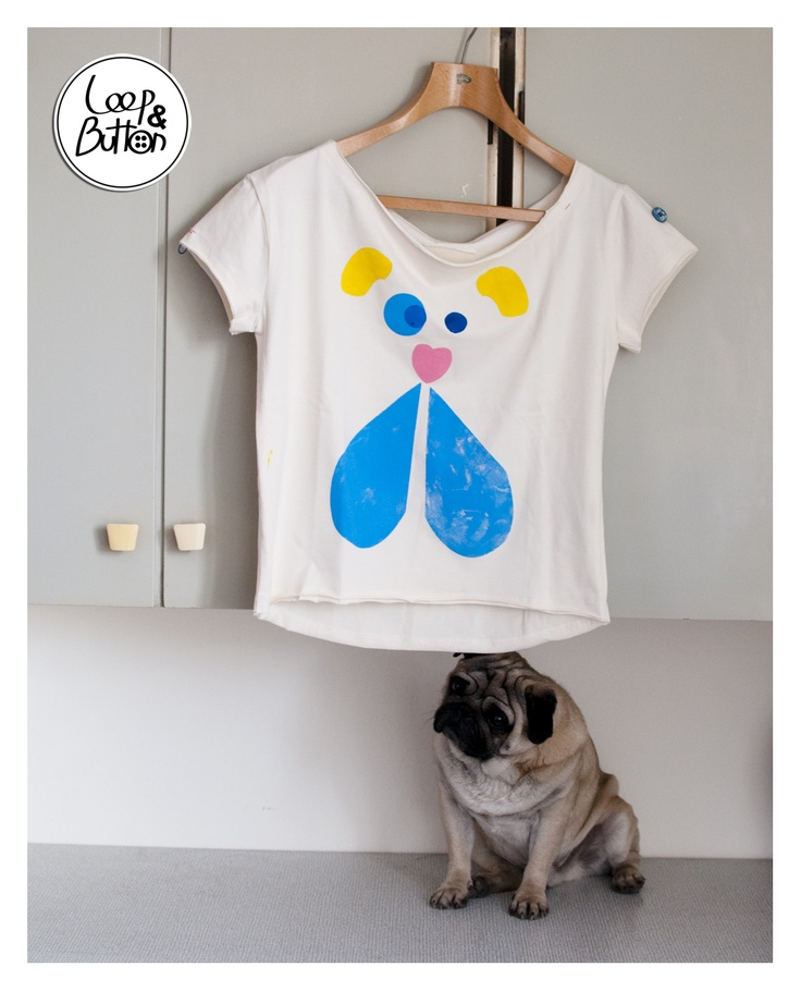 DogFace handmade t-shirt  size: S, M, L