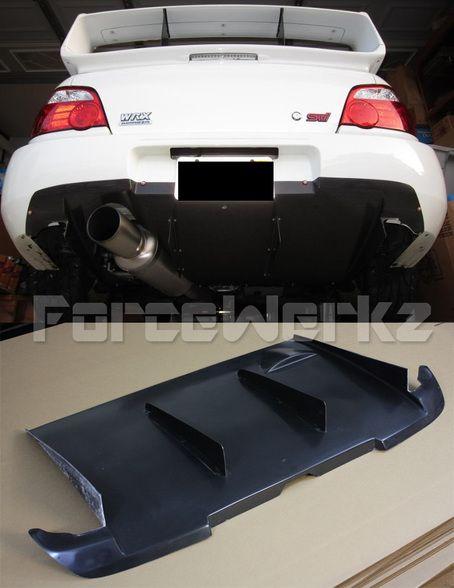 2002-2007 Subaru Impreza WRX STi KS Style Rear Diffuser