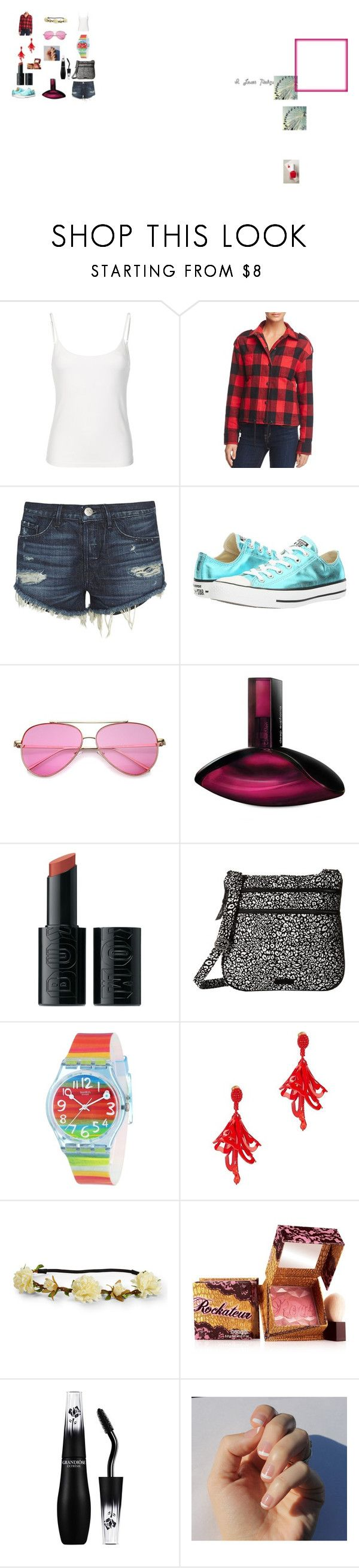 """Casual Date"" by keb2005 ❤ liked on Polyvore featuring Moose Knuckles, 3x1, Converse, Calvin Klein, Buxom, Vera Bradley, Swatch, Oscar de la Renta, Aéropostale and Benefit"