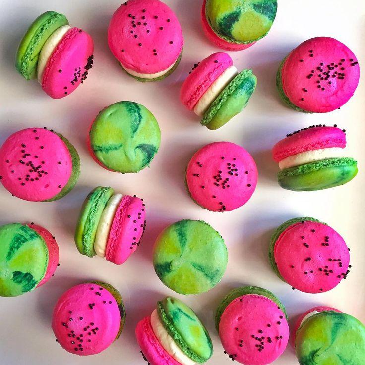 """ #macarons #niknakssweetesttreats #picoftheday #pertheats #perthdesserts #yum #summeriscoming"""