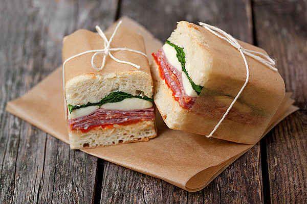 pressed italian sandwich