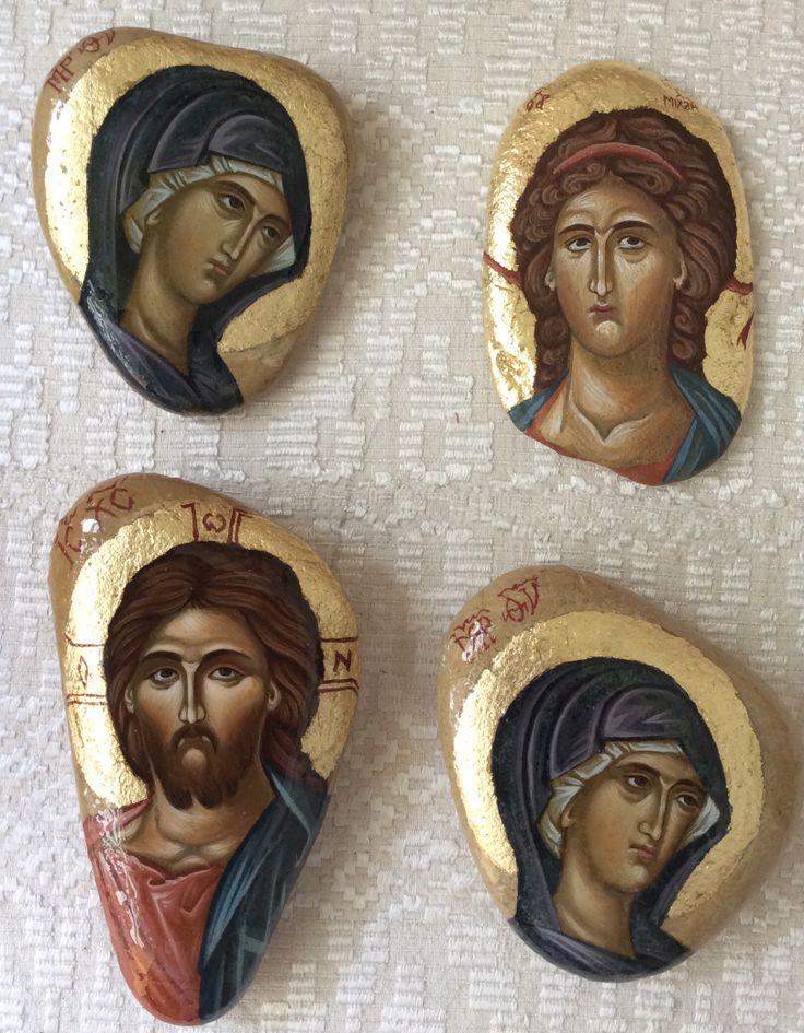 Icons on the stones by Jolanta Kuderska.