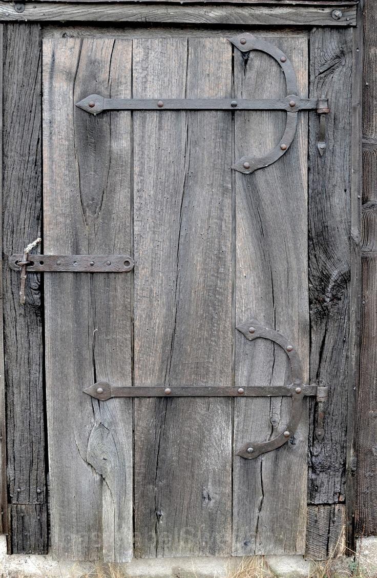 Old barn wood door.