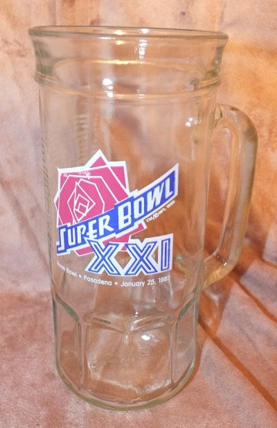 NFL Super Bowl XXI Rose Bowl Fishers Glass by MoonbearConnections