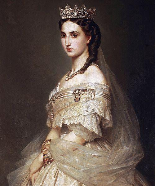 """marcuscrassus: """" """" Franz Xaver Winterhalter - Portrait of Empress Charlotte """" """""""