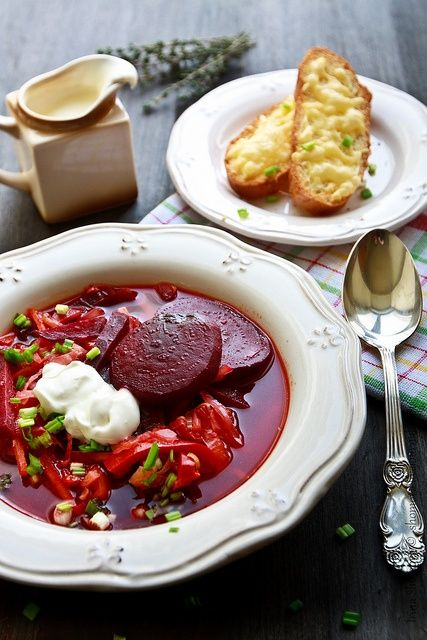 """Borsch"" - is the famous soup in many Russian families, as well as many Eastern and Central European countries. #russian_food #Russian_recipes #Russian_cuisine"