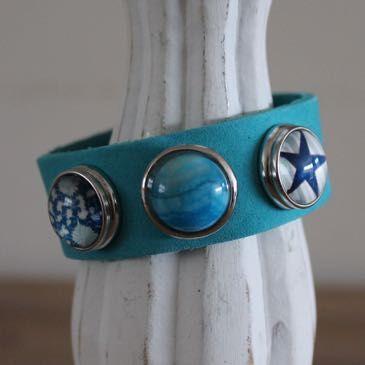 Armband blauw maat L, compleet