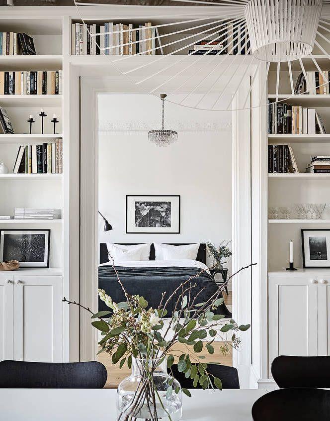 A Beautiful Wall Covering Book Shelf Interior Scandinavian