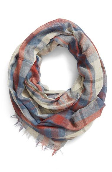 Free shipping and returns on BP. Plaid Infinity Scarf at Nordstrom.com. A plaid pattern in rich, autumnal hues details this feather-light infinity scarf edged in fringe.