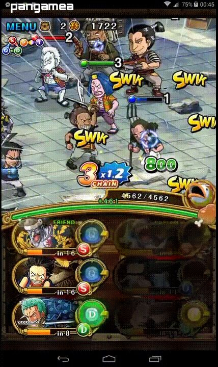 One Piece Treasure Cruise - Manga and anime characters fight waves of enemies