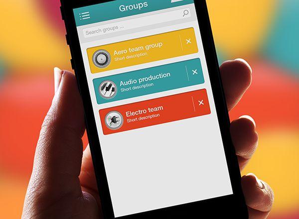 Live Messages App by Adi Dizdarevic, via Behance