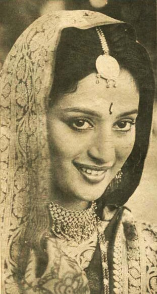 Vintage newspaper photo of Bollywood Actress Madhuri Dixit - ♥ Rhea Khan