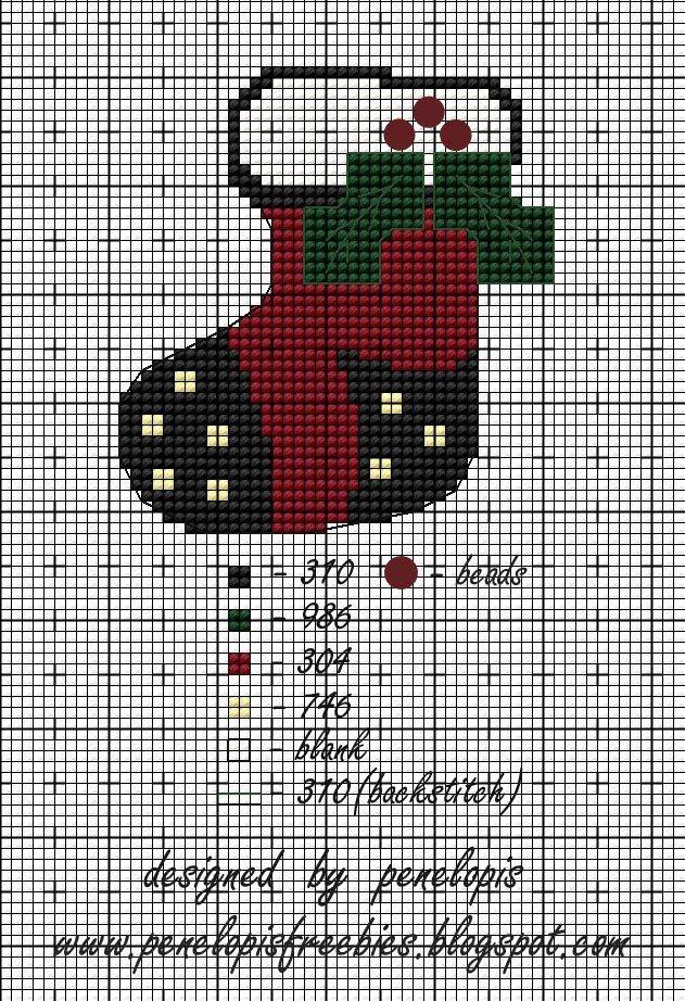 Penelopis Cross Stitch Freebies Perler Jul Vinter