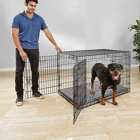 You & Me Ultra Tough 2-Door Folding Dog Crate   Petco