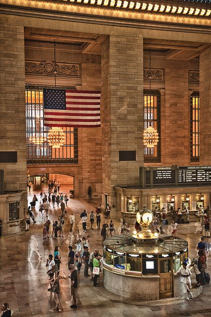 Even if you're not going anywhere Grand Central Station is a fun place to visit. Be sure to check out the food court.