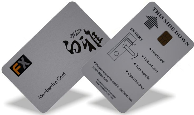 Contact smart card are the same size as a credit card and