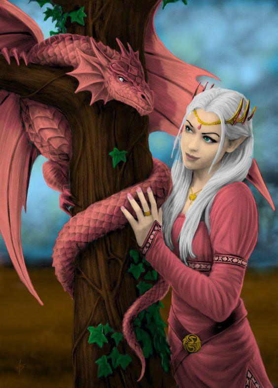 Хорошее, картинки с эльфами и драконами