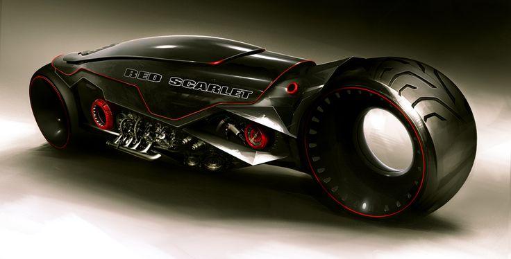 Futuristic Bike, Black by MikaelLugnegard on deviantART