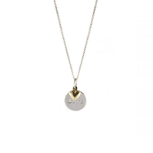Fink's 14K Gold and Sterling Silver Heart Necklace