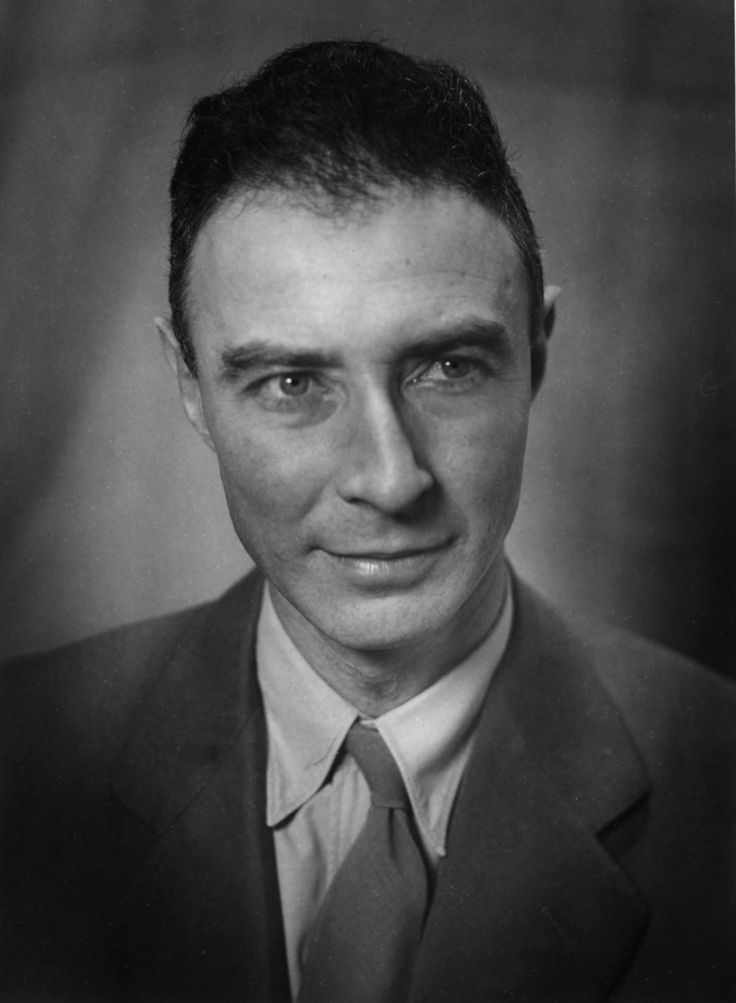 J. Robert Oppenheimer, American physicist, director of the Manhattan Project, mixer of a legendary martini, owner of a set of gorgeous eyes.