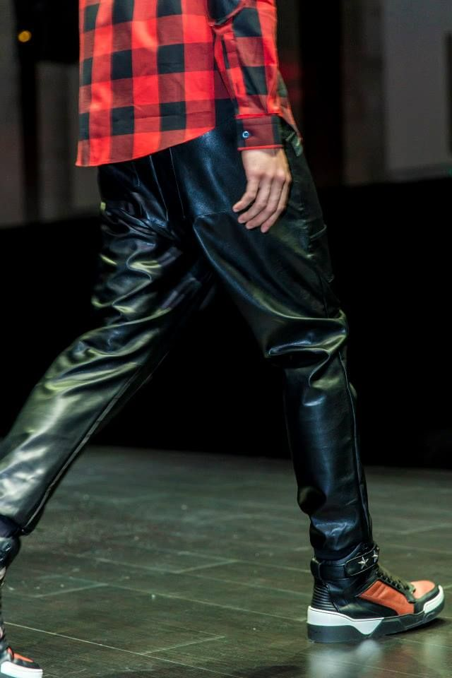MCQ (shirt), Markus Lupfer (trousers) and Givenchy (sneakers) at Harvey Nichols - Dubai