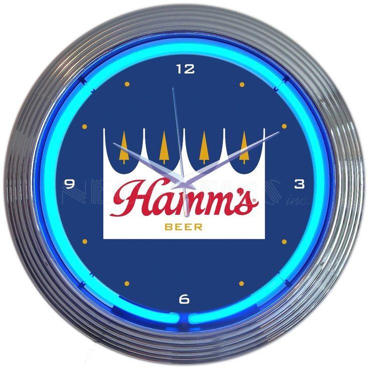 """15"""" Hamms Beer Neon Clock"""