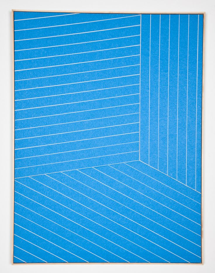 Isaac Brest - Untitled (Painters Tape #1) 2012   Painters tape on drywall in artist frame  41 x 31 inches