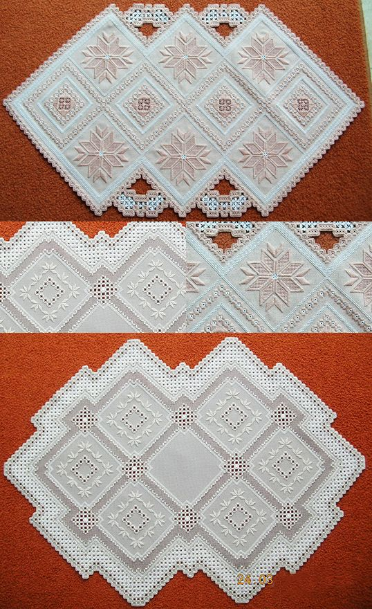 Award-winning Surface Embroidery Hardanger by Margaret Attrill from Queensland in Australia
