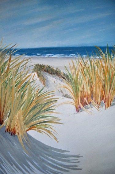 Muurschildering strand, zee en duinen ‹ Miranda Maakt het MooiMiranda Maakt het Mooi
