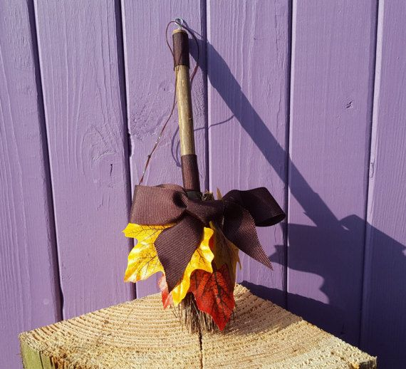 Autumn Broomstick Mabon Amulet Samhain Witch Besom