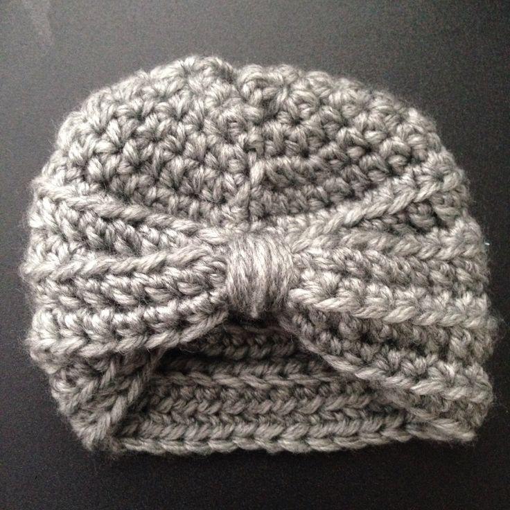 Newborn turban. Pattern by Contemporary Domestics.