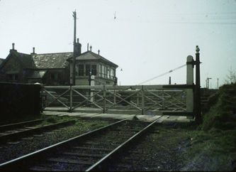 Level crossing at Bugle on the Par to Newquay line