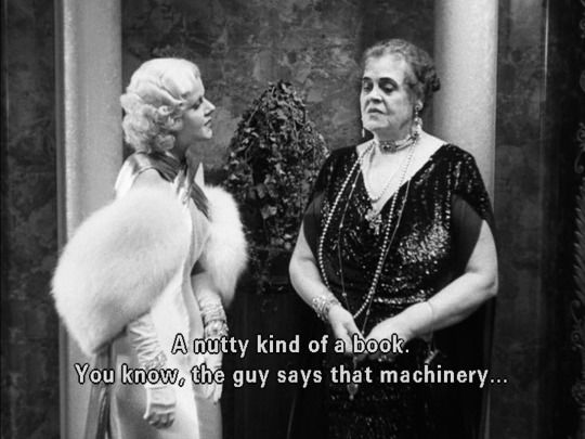 Jean Harlow and Marie Dressler - Dinner at Eight 1933